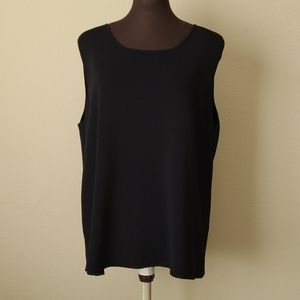 Cable & Guage Black Tank Top Size 2X